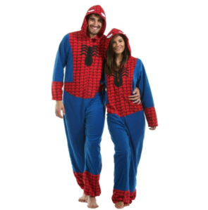 Matching super hero onesies ... fulfilling fantasies?