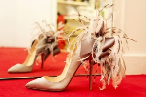 Beautiful. May be appropriate footwear for a production of Swan Lake.