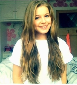 My daughter - and not a hair extension in sight.