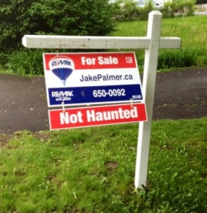 haunted sign