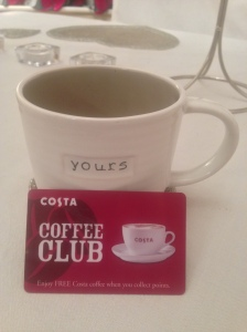 My Costa clubcard is laden with points